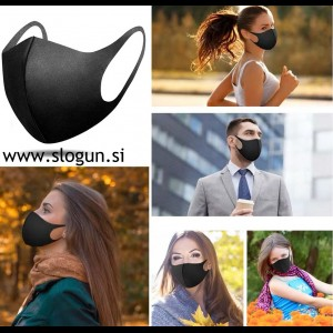 Zaščitna pralna maska v črni, beli, sivi ali roza barvi za večkratno uporabo (za moške in ženske)