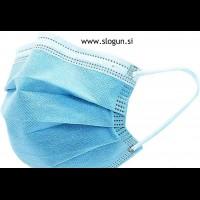 Zaščitna maska v svetlo modri barvi za enkratno uporabo (za moške in ženske)