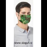 Zaščitna maska v camo-zeleni barvi za enkratno uporabo (za moške in ženske)