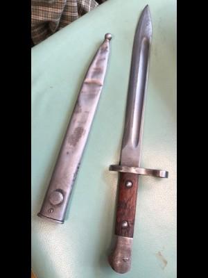 Rabljeni zbirateljski bajonet za puško Mauser K98