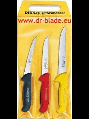 Dick 3-delni set mesarskih nožev za izkoščičevanje DEBONING CHAMPIONSHIP - ročaji različnih barv (82551000)