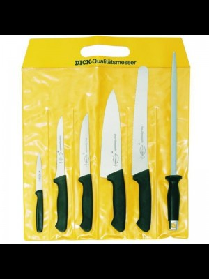 Dick 6-delni set kuhinjskih in mesarskih nožev (5 nožev in brusilna palica) (85100000)