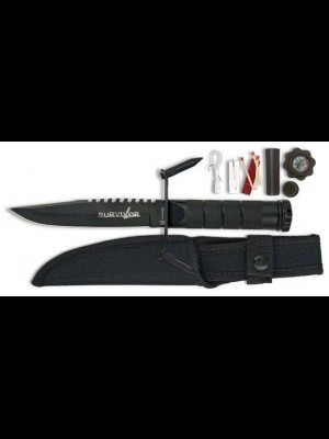 Martinez Albainox fiksni nož za preživetje + oprema + etui + kompas (31888)