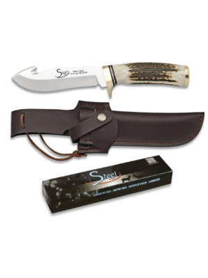Martinez Albainox fiksni lovski nož z ročajem iz pravega roga - SKINNER