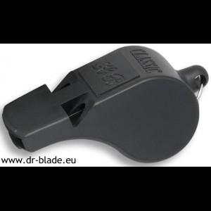Piščalka črna plastika profesionalna - 2 zvoka (33542)