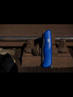 Mikov modri žepni nož z žago 115-NH-6 AK