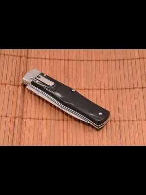 Mikov preklopni avtomatski nož, model: NUZ 241-NR-1/KP (ročaj bivolji pravi rog) (004769)