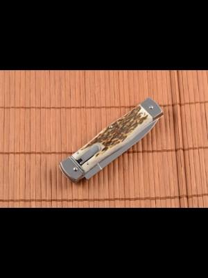 Mikov preklopni avtomatski nož, model: NUZ 241-RP-1/KP (ročaj pravi rog) (004770)