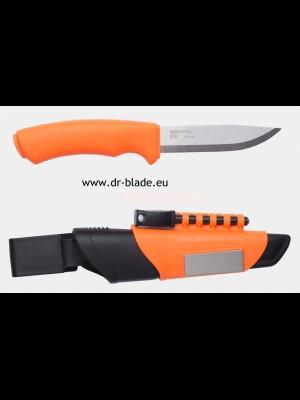 Morakniv fiksni outdoor nož, model: Bushcraft Survival Orange + diamantni brusilec + kresilo