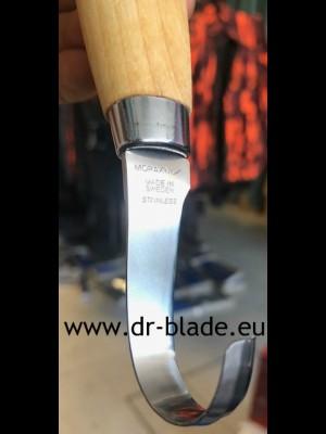 Mora nož za rezbarjenje, model: Wood Carving Hook knife 164S (stainless steel - nerjaveče jeklo)