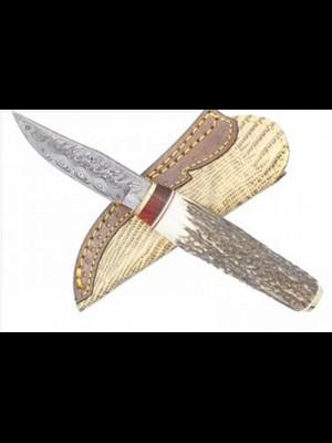 Muela fiksni lovski nož, ročaj iz pravega roga z damaščanskim rezilom