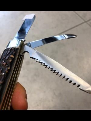 Puma preklopni nož (3 funkcije) - ročaj pravi rog (210311)